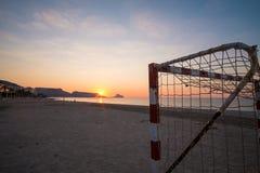 Metas del fútbol de la playa Fotografía de archivo