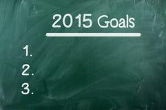 Metas para 2015 Foto de archivo libre de regalías