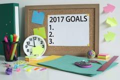Metas para el concepto 2017 del Año Nuevo Foto de archivo libre de regalías