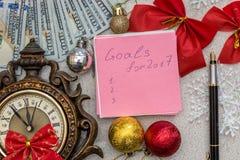 Metas por Año Nuevo Imagen de archivo