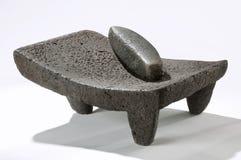 Metate, het Mexicaanse Werktuig van de Steen royalty-vrije stock afbeelding