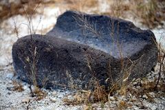 A metate or metlatl royalty free stock photography