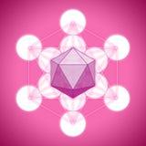 Metatron与帕拉图式的固体的` s立方体-二十面体 免版税图库摄影