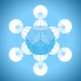 Metatron与帕拉图式的固体的` s立方体- dodecahedron 免版税库存照片