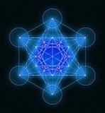 Metatron& x27 σύμβολο κύβων του s Απεικόνιση αποθεμάτων