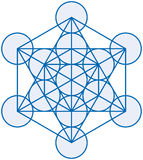 Metatron Cube. Metatrons Cube is a powerful symbol, derived from the Flower of Life. Vector illustration on white background Stock Images