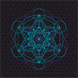Metatron outline seed of life sacred geometry Royalty Free Stock Photography