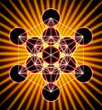 Metatron`s Cube Royalty Free Stock Photos