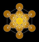 Metatron's Cube Symbol. Illustration of a metatron's cube symbol Royalty Free Stock Photography