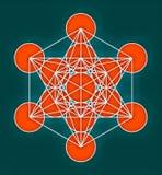 Metatron& x27; s-kubsymbol Arkivbild