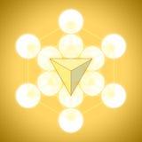 Metatron ` s sześcian z platonicznymi bryłami - czworościan ilustracji