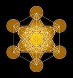 Metatron& x27 ; symbole de cube en s illustration de vecteur
