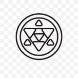 Metatron sześcianu wektorowa liniowa ikona odizolowywająca na przejrzystym tle, Metatron sześcianu przezroczystości pojęcie może  ilustracji