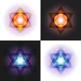 Metatron' cubo de s Imagen de archivo libre de regalías