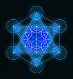 Metatron& x27;s Cube Symbol Royalty Free Stock Images