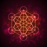 Metatrons立方体-生活花  向量 皇族释放例证