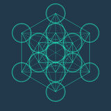 Metatrons Cube. Flower of life. Sacred Geometric. Metatrons Cube. Flower of life. Vector Geometric Symbol isolated. Sacred Geometric Figure named Metatrons Cube Royalty Free Stock Photography