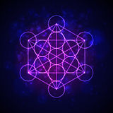 Metatrons Cube - Flower of Life.  Vector Stock Photography