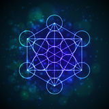 Metatrons Cube - Flower of Life.  Vector Royalty Free Stock Image