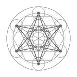 Metatrons Cube. Sacred geometry illustration vector illustration