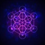 Metatrons kub - blomma av liv vektor Arkivbild