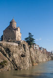 Metekhi Church and view of the river Kura Royalty Free Stock Photography