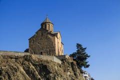 Metekhi kyrka av antagandet royaltyfria bilder