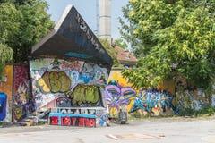 Metelkova Mesto Ljubljana, Eslovênia imagens de stock royalty free