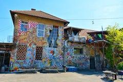 Metelkova Mesto, Ljubljana, Slovenia. Building in Metelkova city, an alternative culture centre in the centre of Ljubljana, Slovenia. It is located on the site stock photography