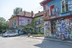 Metelkova Mesto Ljubljana, Slovenien Arkivbild