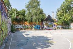 Metelkova Mesto Ljubljana, Slovenien Royaltyfria Bilder