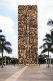 30 meten lange steletoren bij de ingang van Animaya-Dierentuin in Merida Mexico Stock Foto