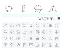 Meteo et icônes de vecteur de temps illustration libre de droits