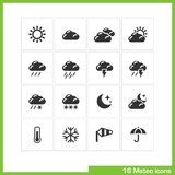 Meteo icon set. Stock Photo