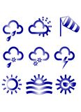 Meteo Icons. Meteorologic Symbol Icons Stock Photos