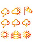 Meteo Icons. Meteorologic Symbol Icons Royalty Free Stock Photography