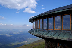 Meteo observatory on the top of mountain. The polish meteo observatory on Sniezka Mountain in Giant Mountains Karkonosze Stock Image