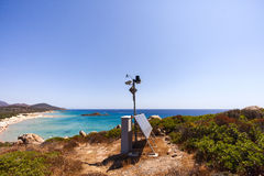 A meteo station. On a pick on the sea Stock Image