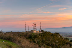 Meteo Station. At sunset  from Spain Stock Images
