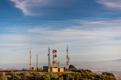 Meteo Station. At sunset  from Spain Royalty Free Stock Photos