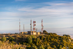 Meteo Station. At sunset  from Spain Stock Photo