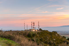 Meteo Station. At sunset  from Spain Royalty Free Stock Images
