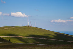 Meteo Station. Transalpina road and meteo station in Parang mountains, Carpathian range, Romania Stock Photos