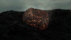 Meteoor vlak na het in botsing komen met de Aarde stock illustratie