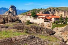 Meteorów monasterów kompleks, Grecja Zdjęcia Royalty Free