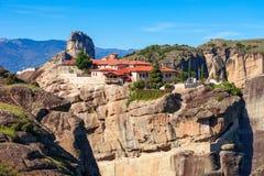 Meteorów monasterów kompleks, Grecja Zdjęcia Stock