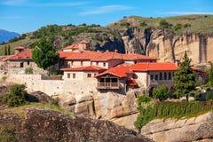 Meteorów monasterów kompleks, Grecja Obrazy Stock