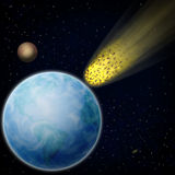 Meteor. The meteor comes nearer to the Earth Stock Photo