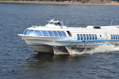 Meteor bärplansbåtfartyg i St Petersburg Arkivbild