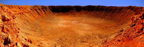 Meteor Crater. Very Nice Panoramic Image of the Meteor Crater in Arizona stock images